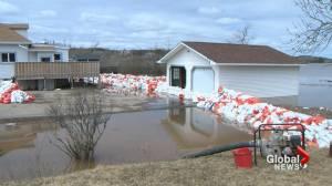 Flood waters peak in Saint John