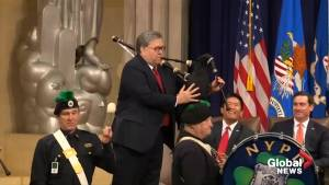 U.S. Attorney General William Barr whips out the bagpipes for surprise musical performance