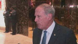 Indiana Senator Dan Coates praises President-elect Donald Trump for saving Carrier jobs