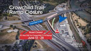 City warns of ramp closure, traffic disruptions on Calgary's Crowchild Trail