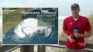 Hurricane Florence weakens to Category 2, storm surge threat remains
