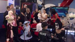 Trick-or-treaters visit Global News Morning