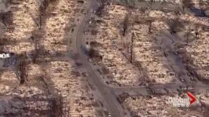 Santa Rosa neighbourhood levelled by northern California wildfire