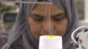 Sewing program helps newcomers to Canada and furniture manufacturer EQ3 (01:55)