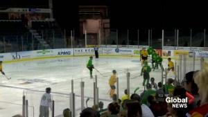 Badges United for Humboldt: Lethbridge hosts charity hockey game