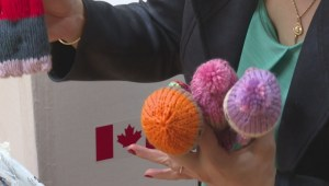 Montrealers knit Izzy Dolls for impoverished children