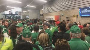 Some fans frustrated over no re-entry policy at Mosaic Stadium after game delay