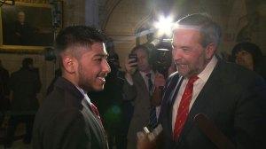 Tom Mulcair meets Prime Minister PJ Lakhanpal, says he has a lot of 'inner strength'