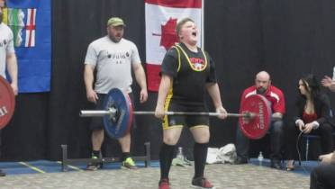 WATCH: 11-year-old Alberta powerlifter sets world record