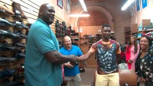 Shaq buys shoes for teen with size 18 feet after hearing his mom can't afford sneakers