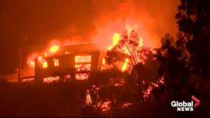 California wildfires: Malibu home collapses as it is engulfed in flames