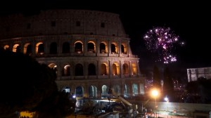 Rome welcomes the new year with a spectacular fireworks display lighting up the Colosseum