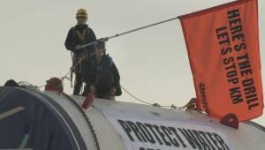 Kinder Morgan protest underway in Delta (01:33)