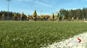 Maritime soccer players attend soccer camp lead by Olympic athletes