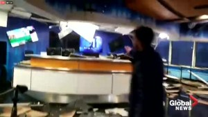 Alaska earthquake: Anchorage newsroom badly damaged by 7.0magnitude quake