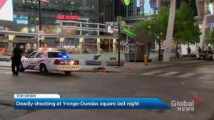 Toronto police investigate the city's third deadly shooting this week at Yonge-Dundas Square