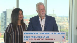 Quebec election: Couillard pushes Legault on sovereignty