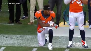 innovative design f728f 29bdc Broncos player kneels in support of Kaepernick during anthem ...