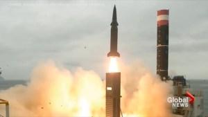 South Korea unveils video of ballistic missile launches