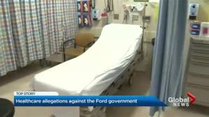 Draft bill leaked shows Ontario government  considering healthcare 'super agency' (02:10)