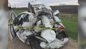 20-year-old Niverville woman survives horrific crash on Highway 59