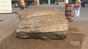 Giant rock sparks curiosity on Toronto streets