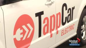 Ride-sharing company TappCar unveils electric fleet in Edmonton