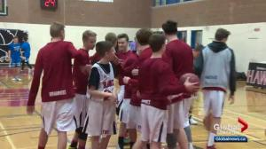 Alberta teen with inoperable brain tumours living out basketball dream