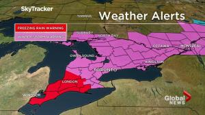 A winter storm is taking aim at southern Ontario, Quebec and Atlantic Canada