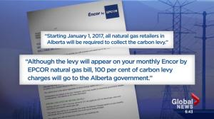 Alberta carbon levy: levy or tax?