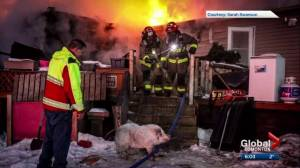 Fire rips through Millet, Alta. home