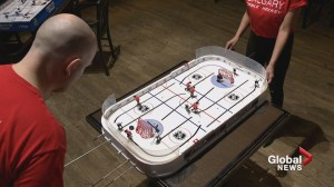 'Like playing real hockey at 100 MPH!': Calgarians set up city's first table hockey league