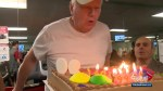 Surprise celebration for 'inspirational' Calgarian at the gym on 90th birthday