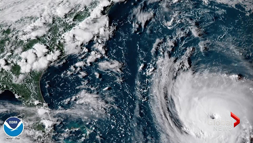 Hurricane Florence map uses an unfortunate graphic to display devastation