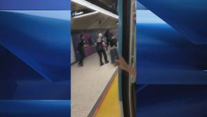 Altercation between Montreal police, black man in Metro