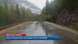 Mudslide closes Highway 3 west of Creston