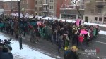Thousands of students take to downtown Montreal streets to protest unpaid internships