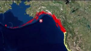 Tsunami threat along Pacific Coast cancelled