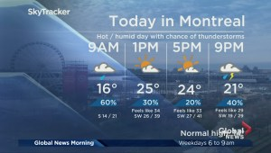 Global News Morning weather forecast: Tuesday, October 9