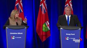 Doug Ford challenges with Christine Elliott on stance on sex ed curriculum