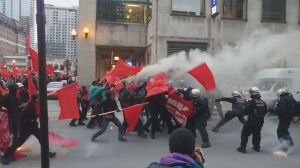 Violent protests erupt during Montreal May Day demonstration
