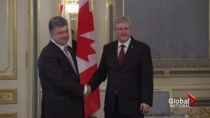 PM Harper first western leader to meet Ukraine's new president