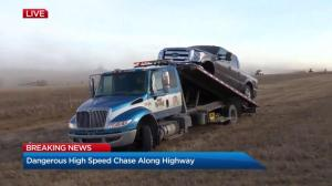 Man arrested after high-speed chase on Alberta highway