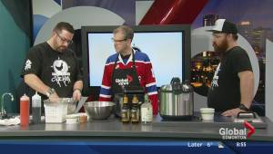 In the Global Edmonton kitchen with Northern Chicken