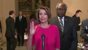 Pelosi urges Trump to open government