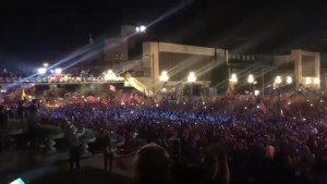 Supporters of Catalan Independence Gather for Campaign Closing Ceremony