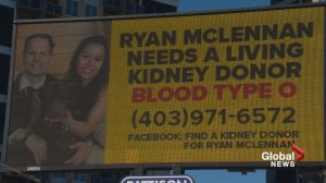 Calgary man takes out billboard to search for kidney donor