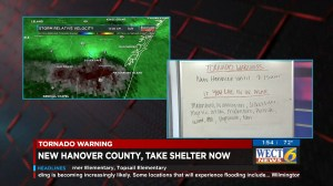 Hurricane Florence: North Carolina news stations take cover as tornado touches down nearby