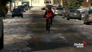 Calgary winter cycling from rider's point of view
