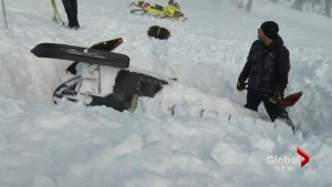 McBride, BC avalanche scene being cleared up